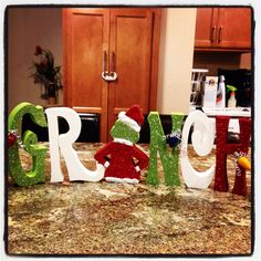 Wood Christmas craft! The Grinch!