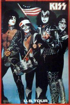 Kiss U. Tour 1976 Bicentennial Spirit Of 76 Poster Gene Simmons Paul Stanley, Gene Simmons, Rock Posters, Concert Posters, Music Posters, Camisa Rock, Heavy Metal, Eric Singer, Pop Internacional