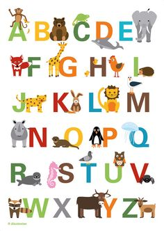 alphabet poster by Ahoimeise on Etsy