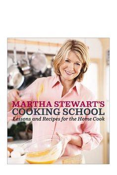 Cookbook: Martha Stewart's Cooking School.