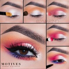 Get The Look With Motives Party Animal Makeup Tutorial - Get The Look With Motives Party Animal Makeup Tutorial Begin By Applying Motives Khol Eyeliner In Angel Onto The Entire Lid And Smudge Then Using Motives Pressed Eye Shadow In Hour Glas Eye Makeup Steps, Makeup Eye Looks, Beautiful Eye Makeup, Eye Makeup Art, Skin Makeup, Eyeshadow Makeup, Makeup Inspo, Makeup Tips, Makeup Ideas