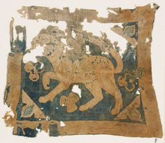 Appliqued textile fragment with figure of a lion - possibly from a standard - Mamluk Ashmolean − Eastern Art Online, Yousef Jameel Centre for Islamic and Asian Art Imperial Symbol, Nemean Lion, Medieval, 12th Century, Asian Art, Online Art, Vintage World Maps, Applique, Weaving