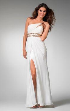 a4f29ff4dc8b A-line Floor-length One Shoulder White Dress Šaty Pro Nevěsty