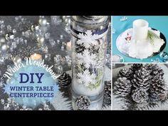 DIY Winter Wonderland: Table Centerpieces (+ fake snow!)   BalsaCircle.com - YouTube
