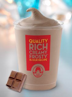 Cool, creamy and refreshing. Made with 100% cocoa, real milk and cream, nothing satisfies more than this Wendy's original.