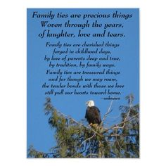 Family Ties Eagle Poster $11.95