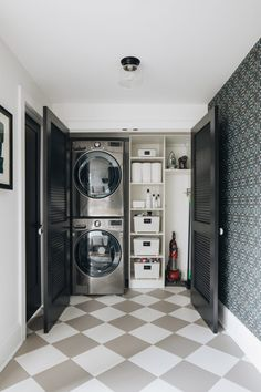 perfect laundry room designs ideas for small space 21 ~ Modern House Design - Popular Photos Small Laundry Rooms, Laundry Closet, Laundry Room Organization, Laundry Room Design, Laundry Nook, Utility Closet, Cleaning Closet, Bathroom Layout, Modern Bathroom
