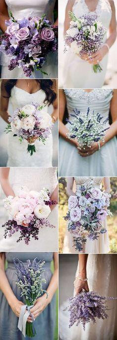 lavender themed wedding bouquet ideas