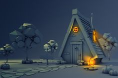 ArtStation - Low Poly Halloween, Marta Silva