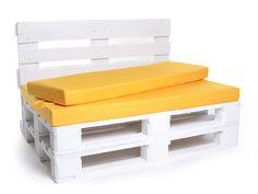 Gelb - Sitzkissen für Paletten, Palettenkissen mit Nylonbezug, 5 Farben, 120 x 80 x 8 cm | PN5001165 / EAN:745495929114