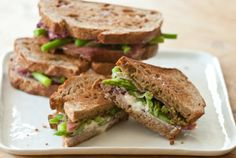 Grilled Goat Cheese Asparagus and Prosciutto Sandwiches