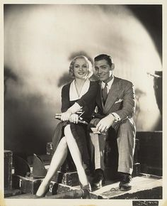 Carole Lombard and Clark Gable ...