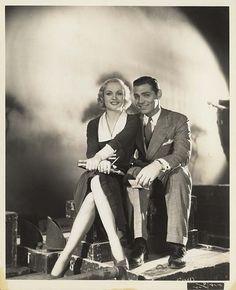 Carole Lombard and Clark Gable ...