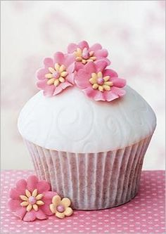 Cupcake fleuri.