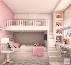 Bunk Bed Designs, Girl Bedroom Designs, Girls Bedroom, Girl Rooms, Twin Girl Bedrooms, Bed For Girls Room, Princess Bedrooms, Shared Bedrooms, Princess Girl