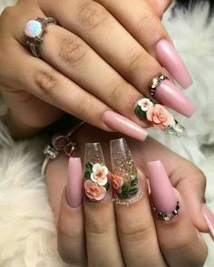 Looking for easy nail art ideas for short nails? Look no further here are are quick and easy nail art ideas for short nails. Cute Acrylic Nails, 3d Nails, Cute Nails, Pretty Nails, Pastel Nails, 3d Nail Art, Coffin Nails, Nail Art Designs, Acrylic Nail Designs
