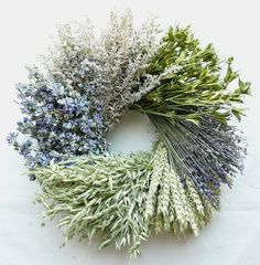 Heartland Dried Flower Wreath.  Measures 15 inches across by 4.5 inches deep.  $51.99