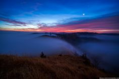 December 2, 2012 Amazing Night and Morning Part 2 - Ridiculous Moon-lit Foggy Sunrise