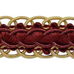 Amazon.com: Expo International Linda Scalloped Braid Trim Embellishment, 20-Yard, Cranberry