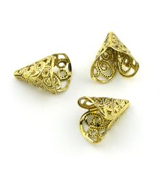 10pcs Various Gold Plated Large Filigree by FancyGemsandFindings, $6.50