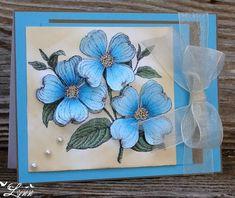 Image result for blue flower diy cards pics
