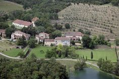 Aerial l view of Brad Pitt and Angelina Jolies house on October 19, 2009 in Brignoles, France.