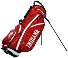 NCAA Indiana Hoosiers Fairway Stand Bag by Team Golf. $129.99. 2 lift assist handles and cooler pocket. Integrated top handle and 14-way full length dividers. 6 location embroidery and 5 zippered pockets. Umbrella holder and towel ring. Fleece-lined valuables pouch and removable rain hood. This lightweight bag is feature full, including integrated top handle, 14-way full length dividers, 6 location embroidery, 5 zippered pockets, 2 lift assist handles, cooler pocket, fleece-line...