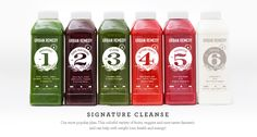 Signature Cleanse - Our most popular plan. This colorful variety of fruits, veggies and nuts tastes fantastic and can help with weight loss, health and energy.
