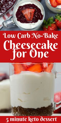 Low Carb No-Bake Cheesecake for One keto