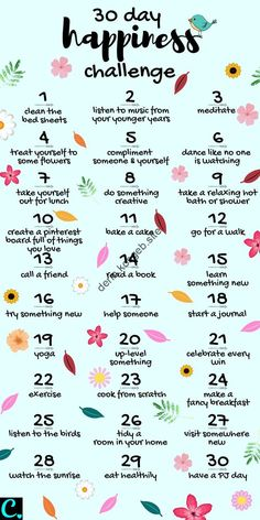 Want To Know How To Be Happy? Take This 30 Day Happiness Challenge! - Captivating Crazy Want To Know How To Be Happy? Take This 30 Day Happiness Challenge! - Captivating Crazy,Self-Care & Self-Love 30 Day Happiness Challenge Infrographic 30 Tag, What To Do When Bored, Things To Do When Bored For Teens, Vie Motivation, Morning Motivation, Sport Motivation, Business Motivation, Health Motivation, Motivation Boards