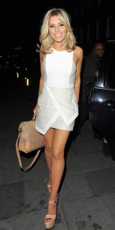 asymmetrical white dress