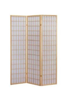 Amazon.com: ACME 02285 Naomi 3-Panel Wooden Screen, Natural Finish: Home & Kitchen $53