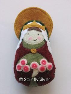 Saint Elizabeth of Portugal Felt Saint Softie by SaintlySilver, $19.00