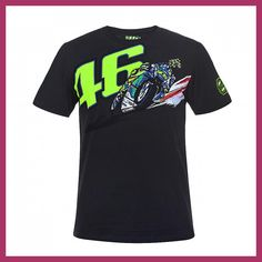2018 Valentino Rossi VR46 Moto GP 46 Banking Vale T-shirt Motorcycle Motor Sports T shirt