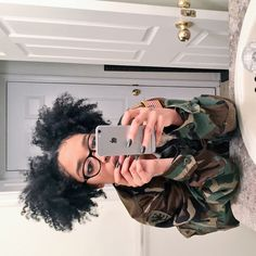 Nerd glasses and Curly puffs. Pelo Natural, Natural Hair Tips, Natural Hair Styles, Natural Curls, Afro, Natural Hair Inspiration, Hair Journey, Hair Inspo, Hair Hacks