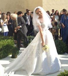 """Ore 21.00 su Sky, canale 425 """"La sposa"""" andrà in onda il giorno perfetto di Marinetta in abito da sposa de L'Atelier Elena Colonna"""