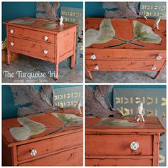 Coral Dresser / Buffet / Entry / Hall / Night by TheTurquoise Iris