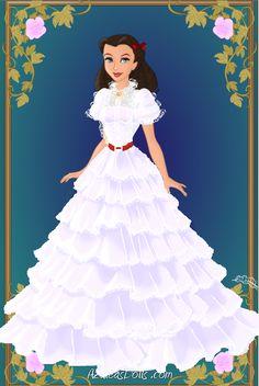 Scarlett o hara white dress shirt