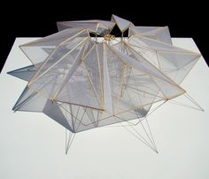 "enochliew: "" Tension/Compression by Nick Rosas Held together at its center by an octagonal frame suspended in place by opposing tensile forces pulling at its eight vertices. """