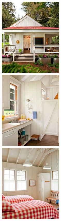 This happy tiny house clocks in at just 260 sq ft. Its bright and colorful design exudes a cheery atmosphere from all corners.   Tiny Homes