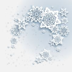 Paper snowflake christmas whtie background vector 04