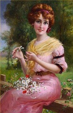Emile Vernon Untitled Oil Painting Reproductions for sale - retro paintings Images Vintage, Vintage Pictures, Vintage Art, Vintage Prints, Victorian Art, Victorian Women, Vernon, Beaux Arts Paris, Munier