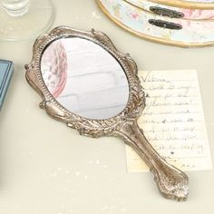 Silver Shabby Chic Hand Mirror
