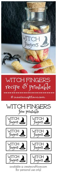 Make your own Witch Fingers! Bugles plus some red candy melts create this fun Halloween treat! (Halloween Crafts Witch)