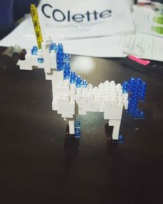 Nanoblock unicorn complete! #nanoblock #lego # unicorn #magical #cute #hobby
