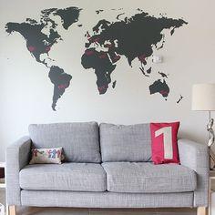 Carte mondiale Wall Sticker vinyle Decall Home Decor Mens