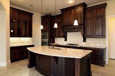 Dark cabinets