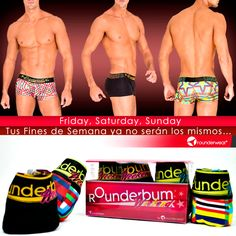 5147509f Los undies del #FinDeSemana son estos: Lift My Weekend. #Rounderguys # Rounderwear