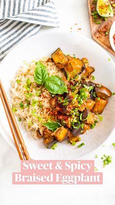 Clean Recipes, Whole Food Recipes, Dinner Recipes, Clean Meals, Eggplant Dishes, Eggplant Recipes, Vegan Meal Plans, Vegan Meal Prep, Go Veggie