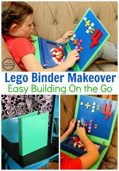 Lego Classroom Ideas - Turn a binder into a Lego surface. Pencil bag to hold Legos. #lego #legobaseplates #legomakeover #legoideas #legohacks #legoclassroom #ad